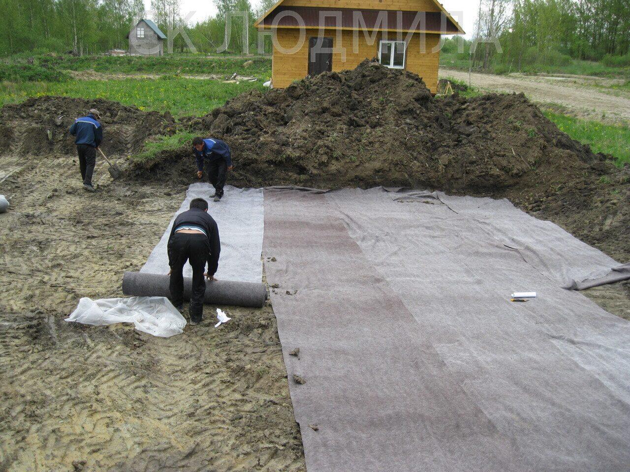 нужен ли геотекстиль под фундамент
